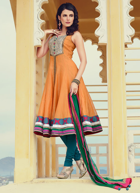 Stand Collar Neck Designs For Salwar Kameez : Bollywood style anarkali suits wel come to boon