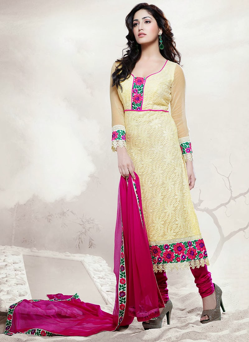 Yami Gautam's Embroidered Churidar Suits | Wel Come to ...