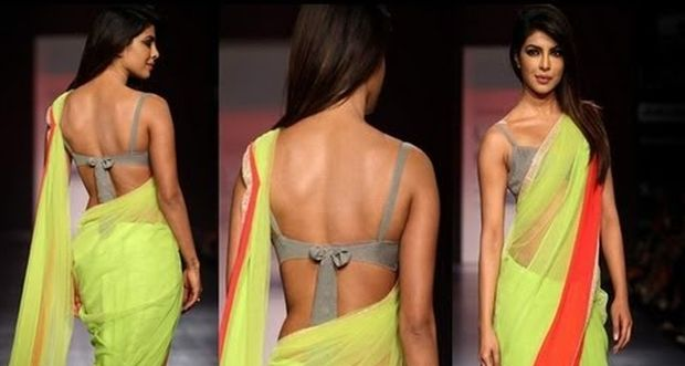 Celebrities in designer backless blouses wel come to boon creation